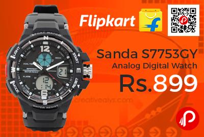 Sanda S7753GY Analog Digital Watch