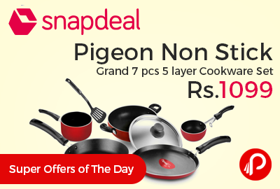 Pigeon Non Stick Grand 7 pcs 5 layer Cookware Set