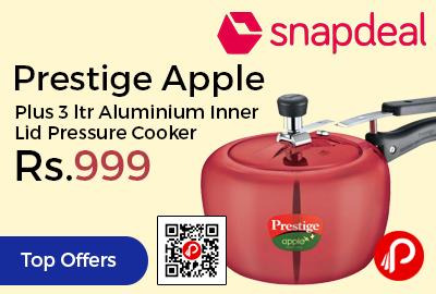 Prestige Apple Plus 3 ltr Aluminium Inner Lid Pressure Cooker
