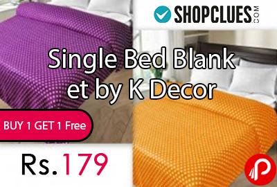 Single Bed Blanket by K Decor