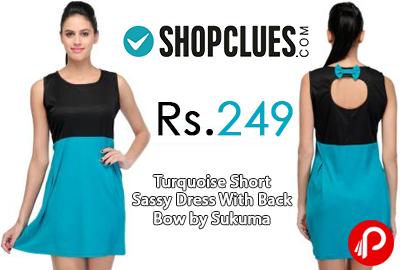 Turquoise Short Sassy Dress