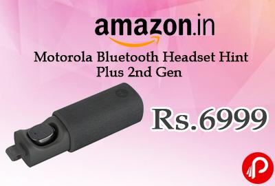 Motorola Bluetooth Headset Hint Plus 2nd Gen