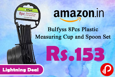 Bulfyss 8Pcs Plastic Measuring Cup and Spoon Set
