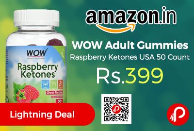 WOW Adult Gummies Raspberry Ketones USA 50 Count