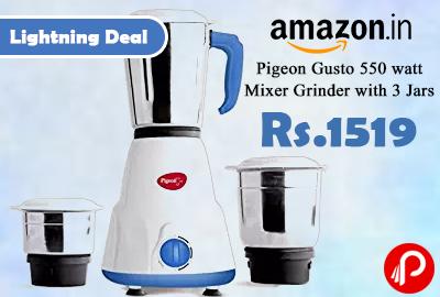 Pigeon Gusto 550 watt Mixer Grinder with 3 Jar