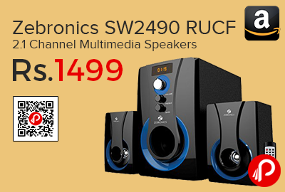 Zebronics SW2490 RUCF 2.1 Channel Multimedia Speakers