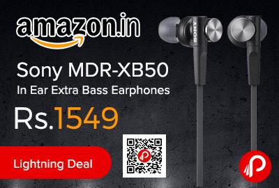 Sony MDR-XB50 In Ear Extra Bass Earphones