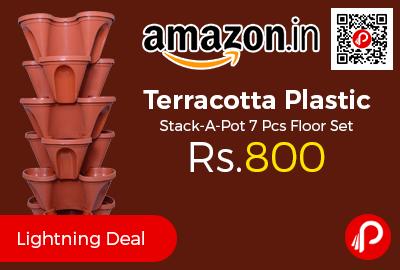 Terracotta Plastic Stack-A-Pot 7
