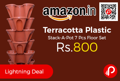 Terracotta Plastic Stack-A-Pot 7