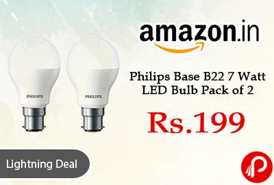 Philips Base B22 7 Watt LED Bulb Pack of 2