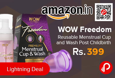 WOW Freedom Reusable Menstrual Cup and Wash Post Childbirth