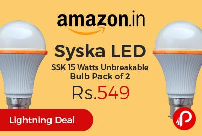 Syska LED SSK 15 Watts Unbreakable Bulb