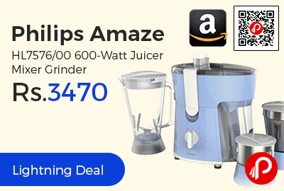 Philips Amaze HL7576/00 600-Watt Juicer Mixer Grinder