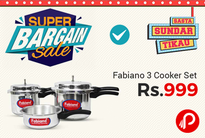 Fabiano Pressure Cooker (Set Of 3