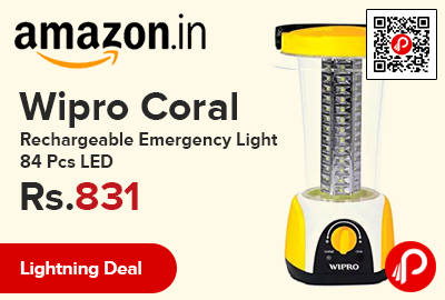 Wipro Coral Rechargeable Emergency Light 84 Pcs LED