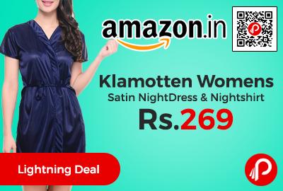 Klamotten Womens Satin NightDress