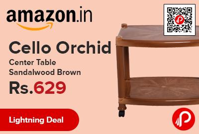 Cello Orchid Center Table Sandalwood Brown