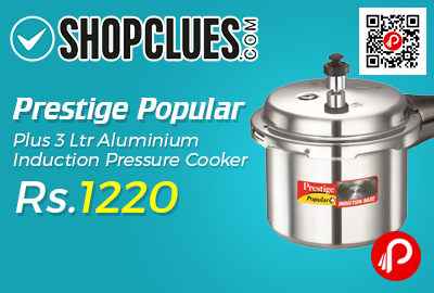 Prestige Popular Plus 3 Ltr Aluminium Induction Pressure Cooker