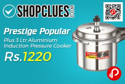 Prestige Popular Plus 3 Ltr Aluminium Induction Pressure Cooker