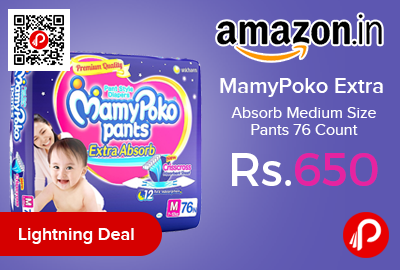 MamyPoko Extra Absorb Medium Size Pants 76 Count