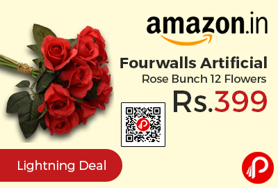 Fourwalls Artificial Rose Bunch 12 Flowers