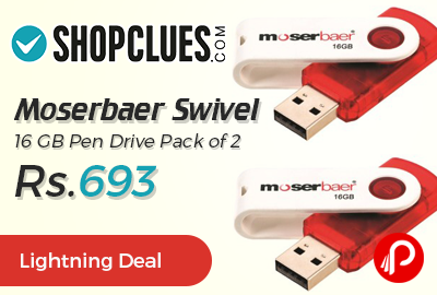 Moserbaer Swivel 16 GB Pen Drive