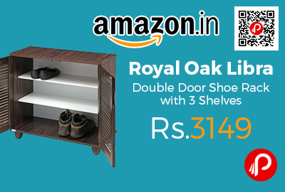 Royal Oak Libra Double Door Shoe Rack with 3 Shelves