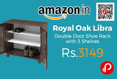 Royal Oak Libra Double Door Shoe Rack with 3 Shelves