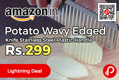 Potato Wavy Edged Knife Stainless Steel Plastic Handle