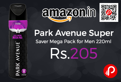Park Avenue Super Saver Mega Pack for Men 220ml