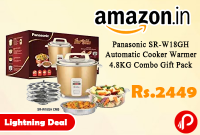 Panasonic SR-W18GH Automatic Cooker Warmer 4.8KG Combo Gift Pack