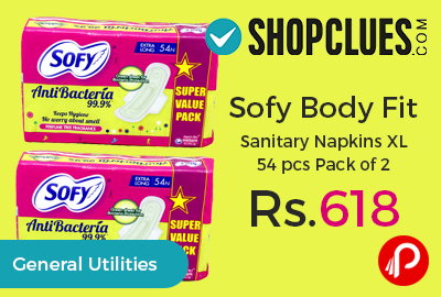 Sofy Body Fit Sanitary Napkins XL 54 pcs