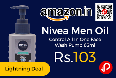 Nivea Men Oil Control All In One Face Wash Pump 65ml