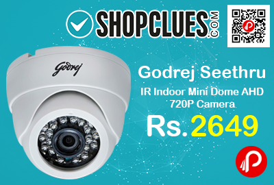 Godrej Seethru IR Indoor Mini Dome AHD 720P Camera