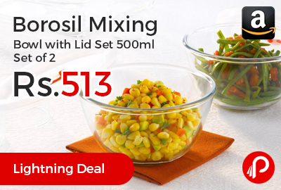 Borosil Mixing Bowl with Lid Set 500ml