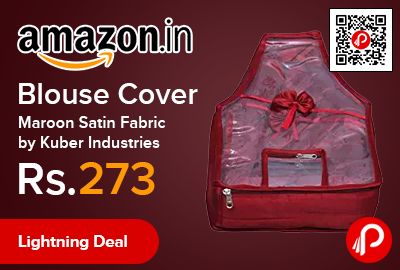 Blouse Cover Maroon Satin Fabric