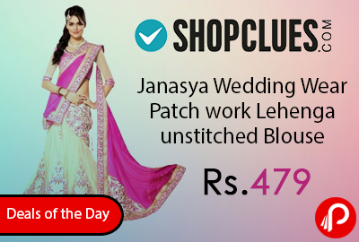 Janasya Wedding Wear Patch work Lehenga unstitched Blouse