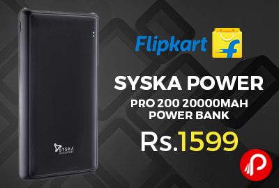 Syska Power Pro 200 20000mAh Power Bank