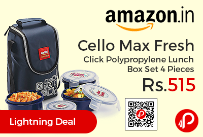 Cello Max Fresh Click Polypropylene Lunch Box