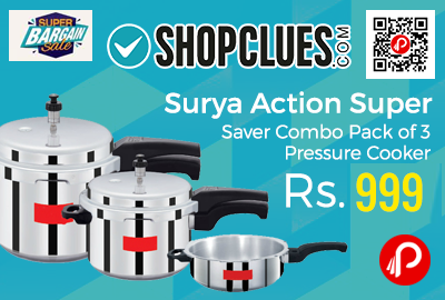 Surya Action Super Saver Combo Pack of 3 Pressure Cooker