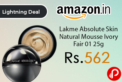 Lakme Absolute Skin Natural Mousse Ivory Fair 01 25g