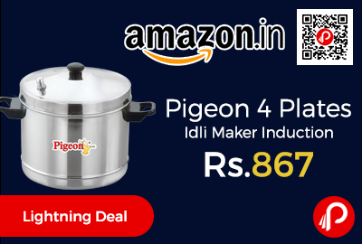 Pigeon 4 Plates Idli Maker Induction