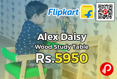 Alex Daisy Pineworks Solid Wood Study Table