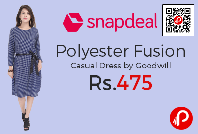 Polyester Fusion Casual Dress