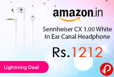 Sennheiser CX 1.00 White In Ear Canal Headphone