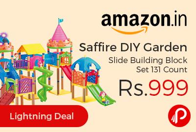 Saffire DIY Garden Slide Building Block Set 131 Count