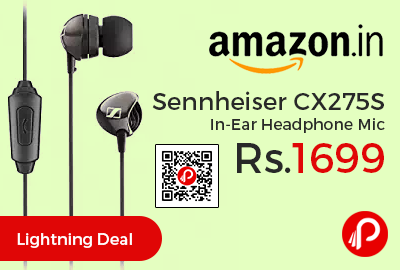 Sennheiser CX275S In-Ear Headphone Mic