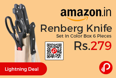 Renberg Knife Set In Color Box 6 Pieces