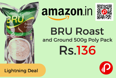 BRU Roast and Ground 500g Poly Pack at Rs.136 Only - Amazon