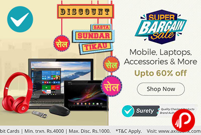 Super Bargain Sale Mobile Laptop Accessories Upto 60% off - Shopclues